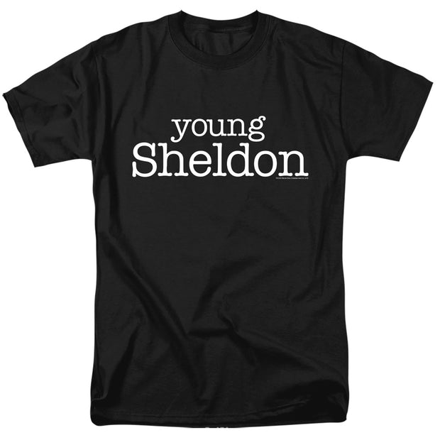 Young Sheldon Logo Adult Short Sleeve T-Shirt | Official CBS Entertainment Store