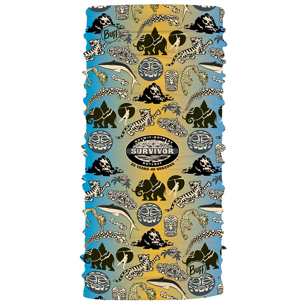 Survivor 20 Years 40 Seasons Commemorative Black Waterfall BUFF ® Headwear | Official CBS Entertainment Store