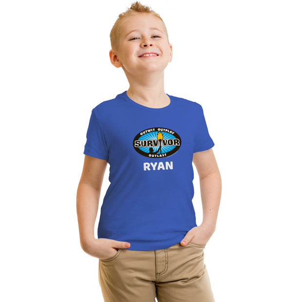 Survivor Outwit, Outplay, Outlast Personalized Kids Short Sleeve T-Shirt | Official CBS Entertainment Store