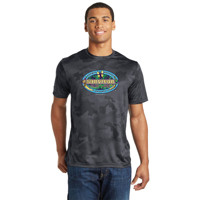 Survivor Season 39 Island of the Idols Logo Men's Performance Camo T-Shirt | Official CBS Entertainment Store