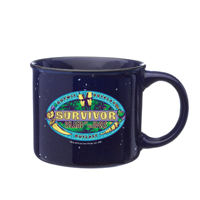 Survivor Season 39 Island of the Idols Logo Campfire Mug | Official CBS Entertainment Store