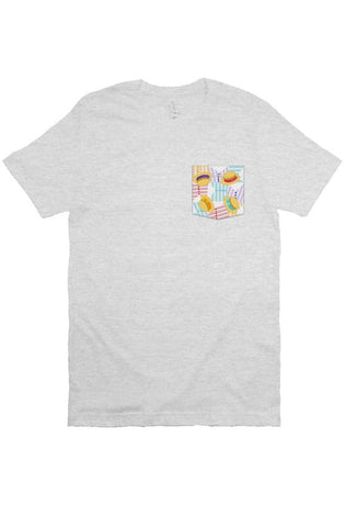 Bubble Gum Wall Pocket Tee
