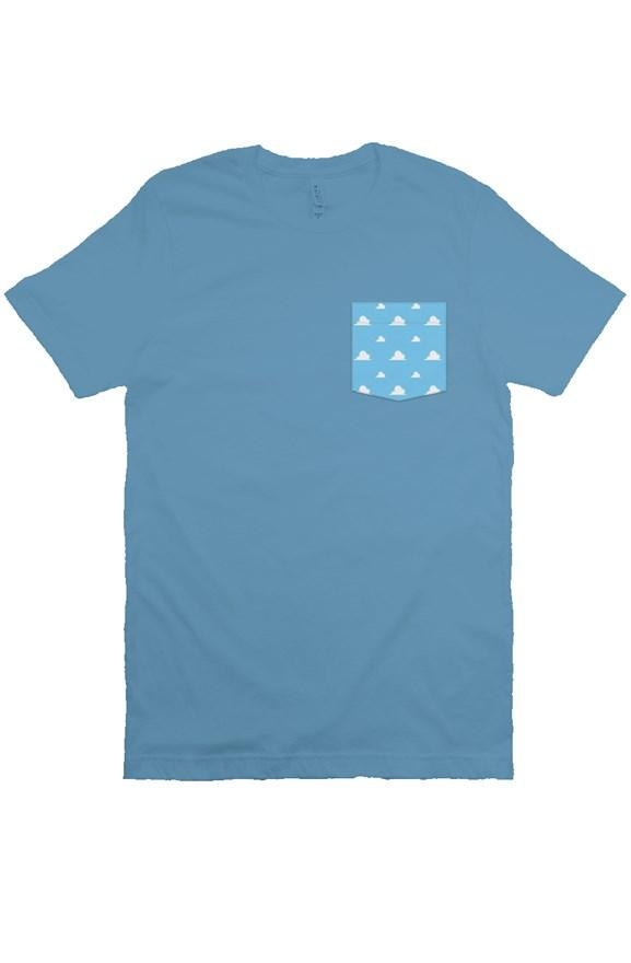 Clouds Unisex Pocket Tee - Ambrie