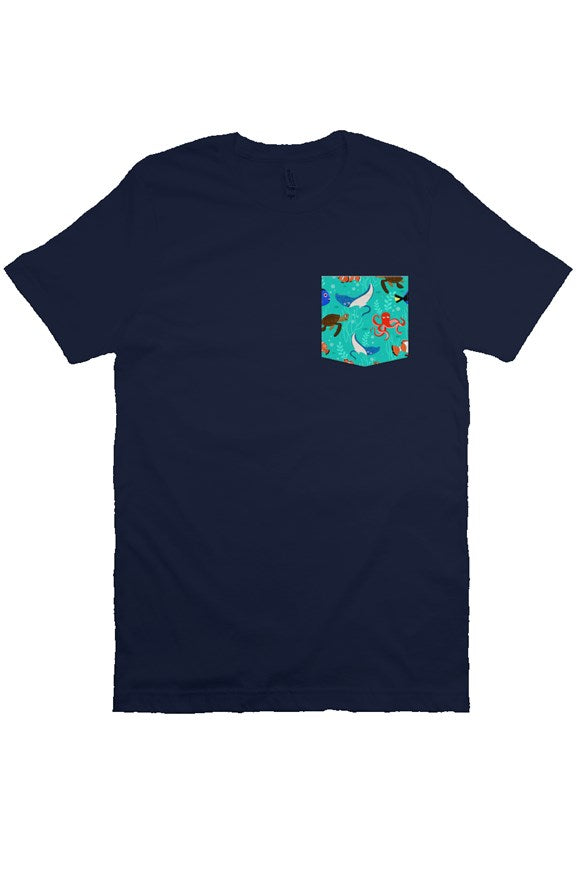 Sea Friends Pocket Tee - Ambrie