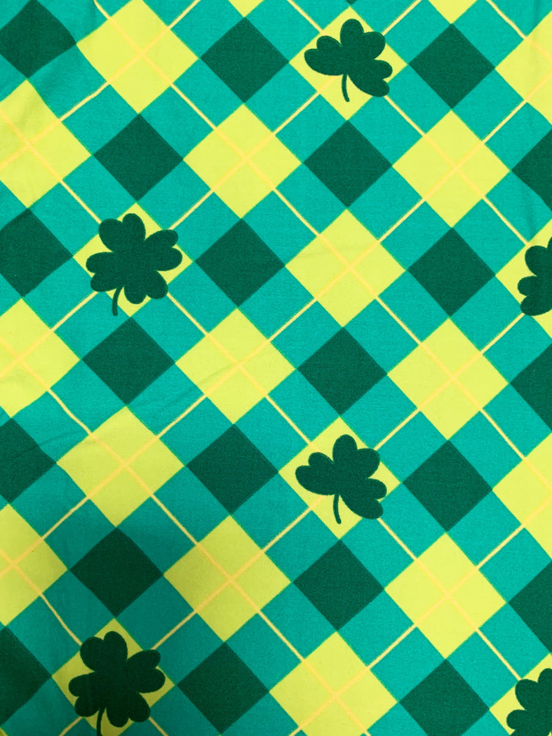St. Patrick's Day Plaid Leggings - Kids