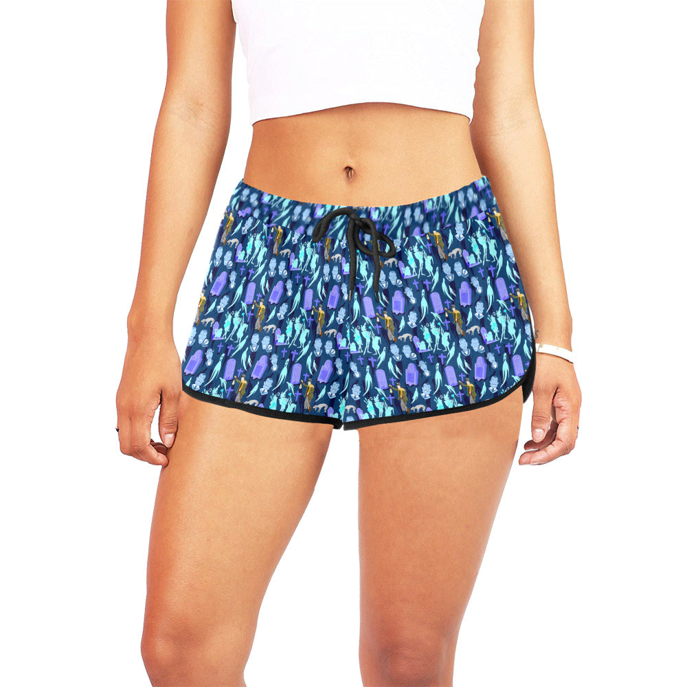 Haunted Graveyard Women's Relaxed Shorts - PRESALE