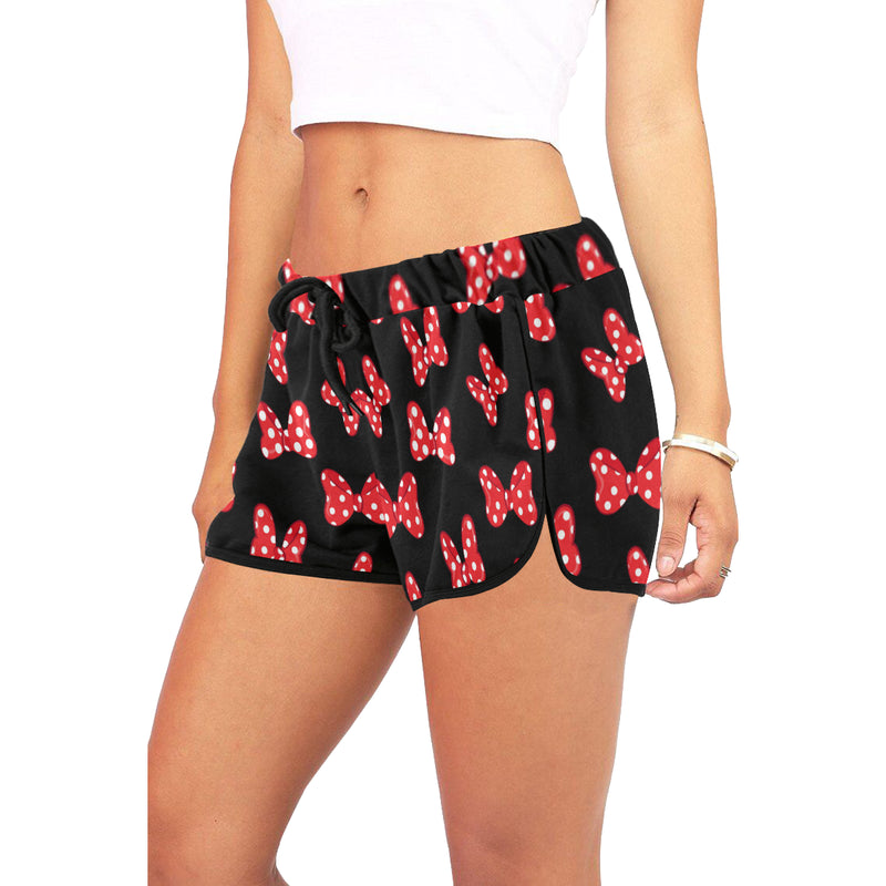 Polka Dot Bows Women's Relaxed Shorts - Ambrie