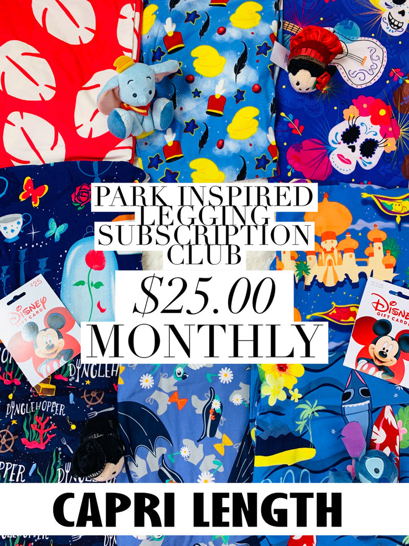 Park Inspired Capri Leggings Subscription Club - Monthly Subscription - Ambrie