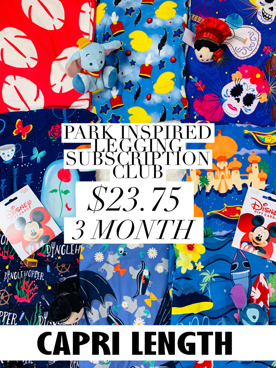 Park Inspired Capri Leggings Subscription Club - 3 Month Subscription
