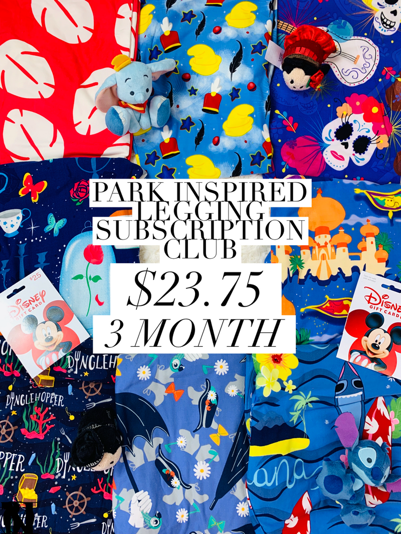 Park Inspired Leggings Subscription Club - 3 Month Subscription