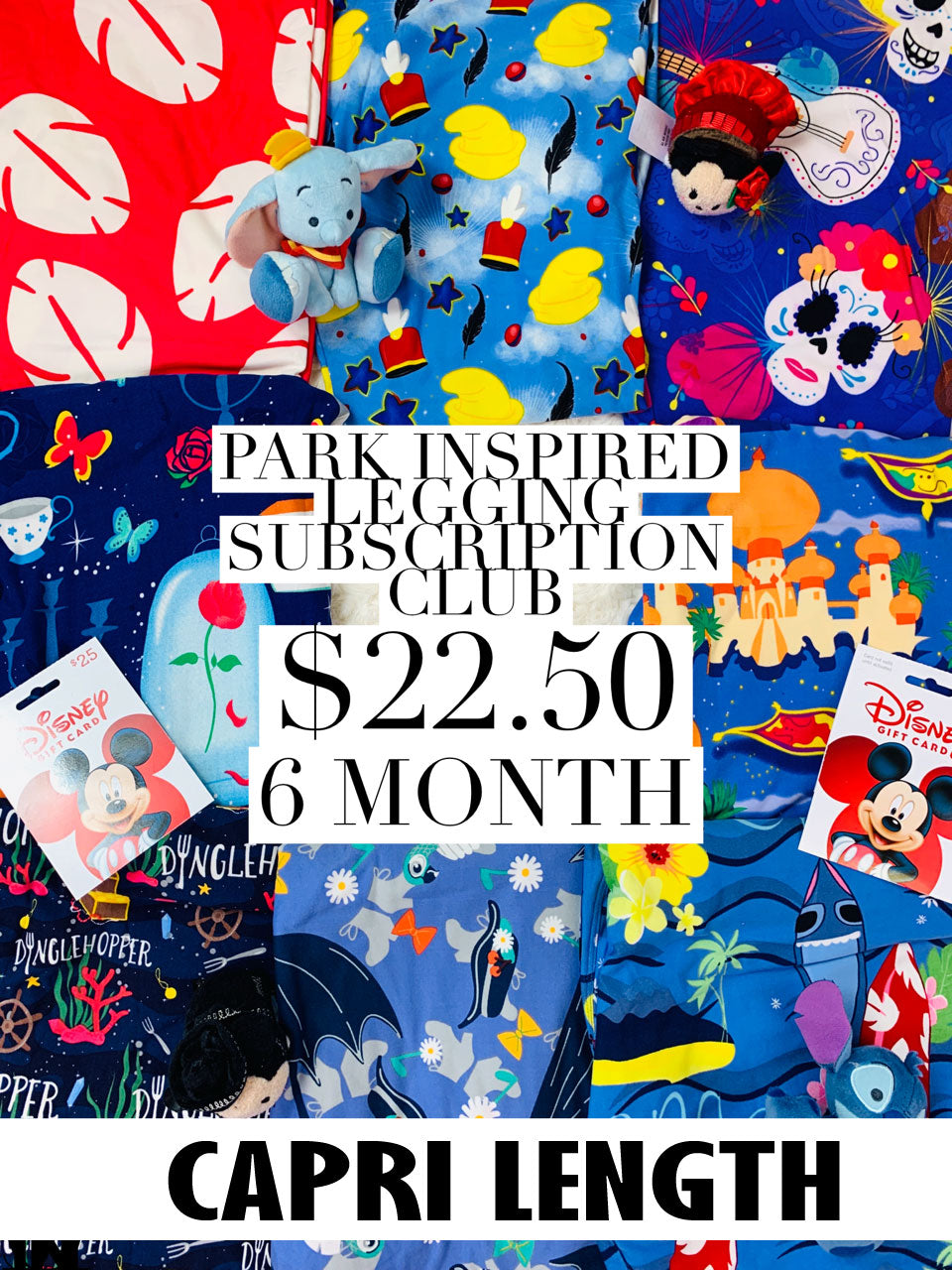 Park Inspired Capri Leggings Subscription Club - 6 Month Subscription - Ambrie