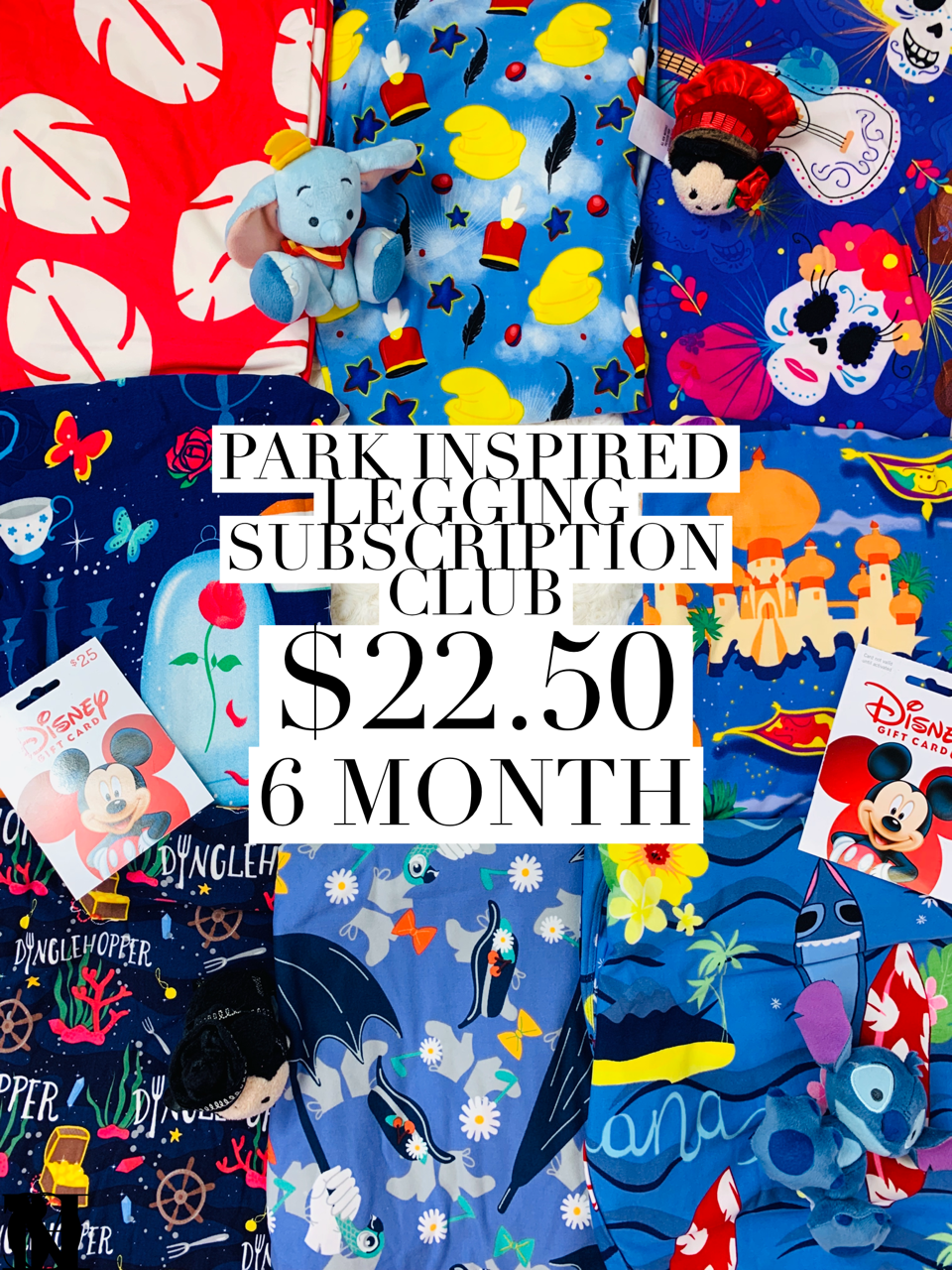 Park Inspired Leggings Subscription Club - 6 Month Subscription