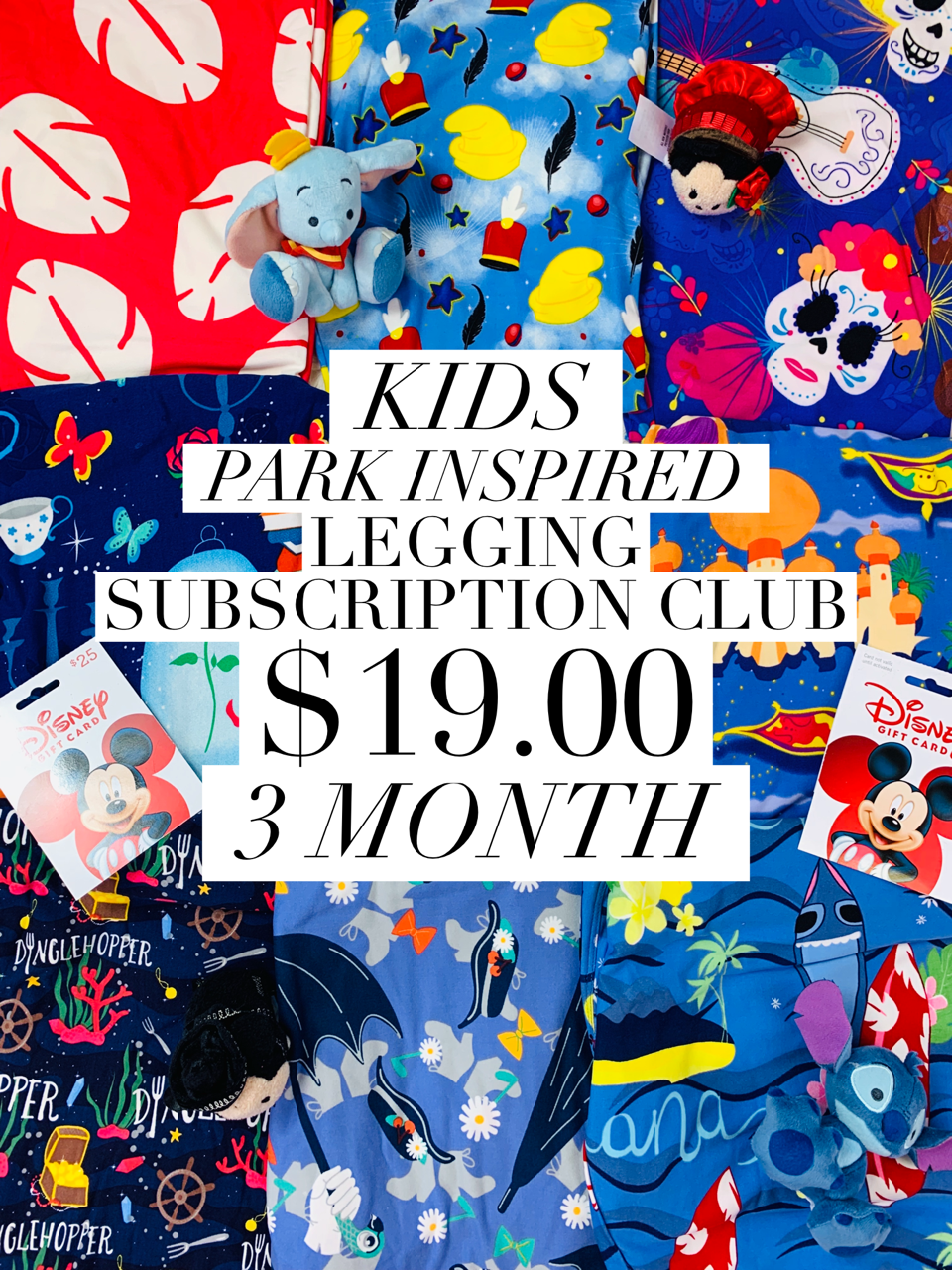 Kids Park Inspired Leggings Subscription Club - 3 Month Subscription