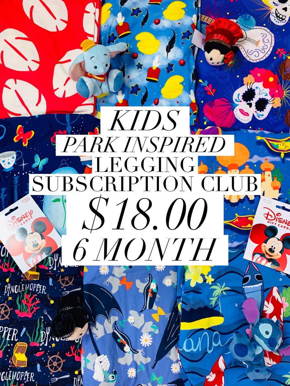 Kids Park Inspired Leggings Subscription Club - 6 Month Subscription - Ambrie