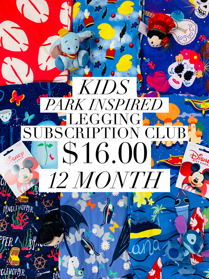 Kids Park Inspired Leggings Subscription Club - 12 Month Subscription