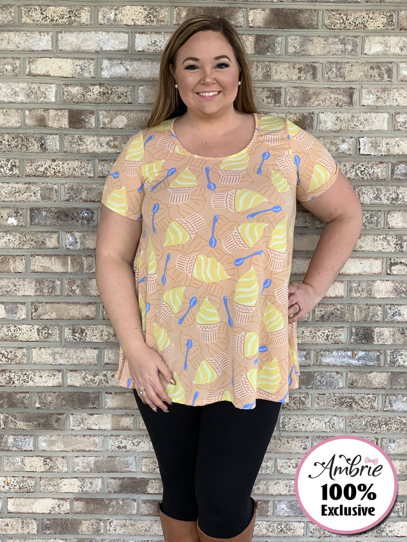 Pineapple Whip Tunic Top