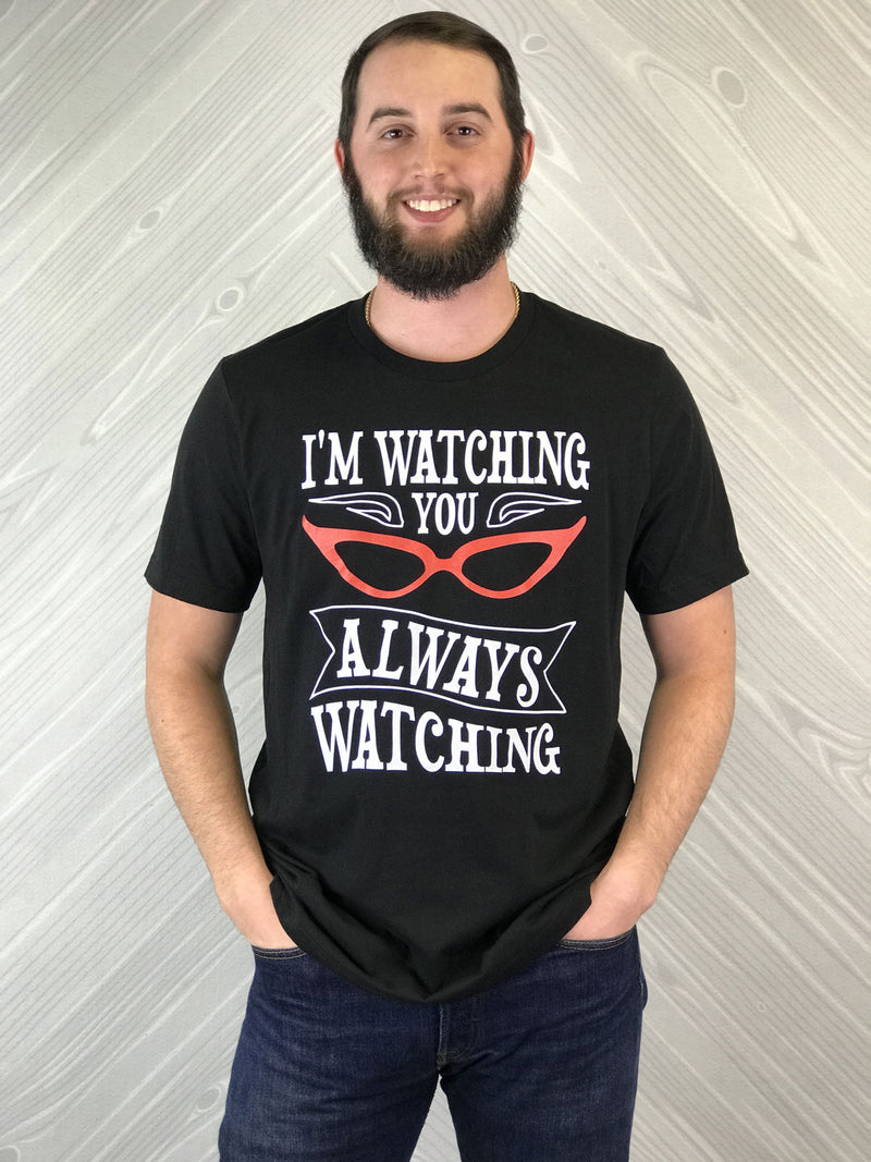 Always Watching - Men's Short Sleeve Shirt - Ambrie