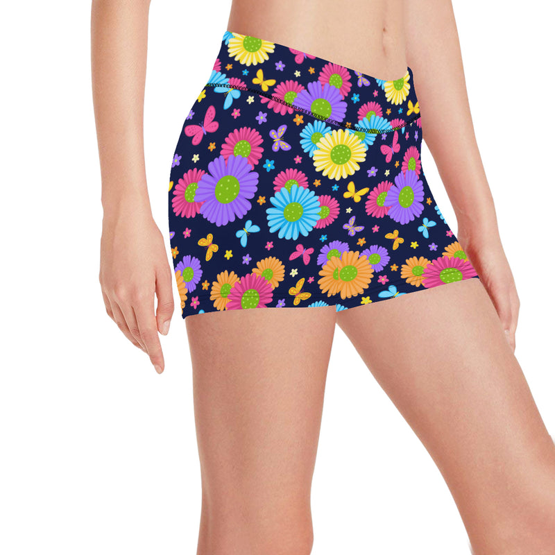 Magical Spring Flowers Short Leggings