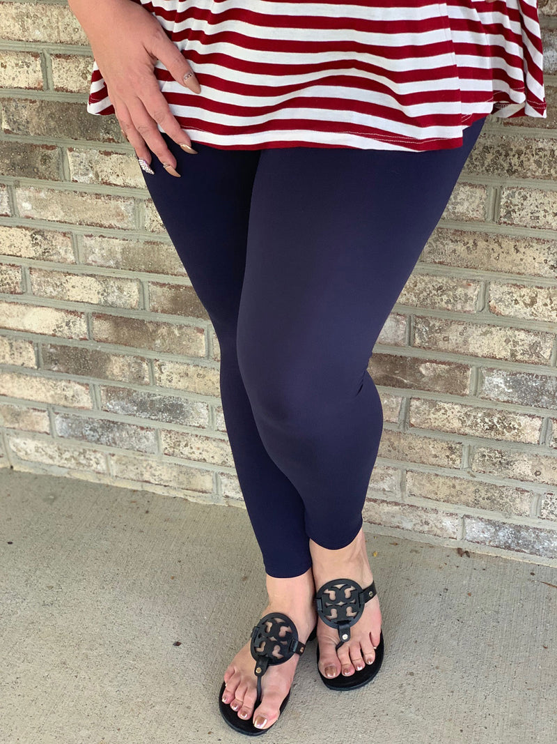 Ambrie Navy Leggings - Women's - Ambrie