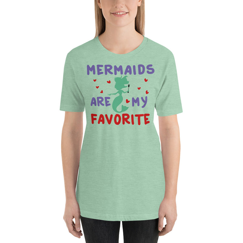 Mermaids Are My Favorite - Women's Short Sleeve Shirt - Ambrie