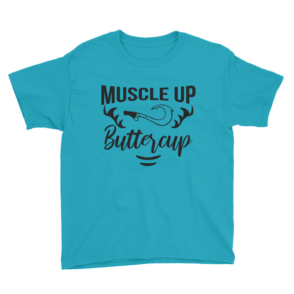 Muscle up Buttercup - Kids Shirt - Ambrie