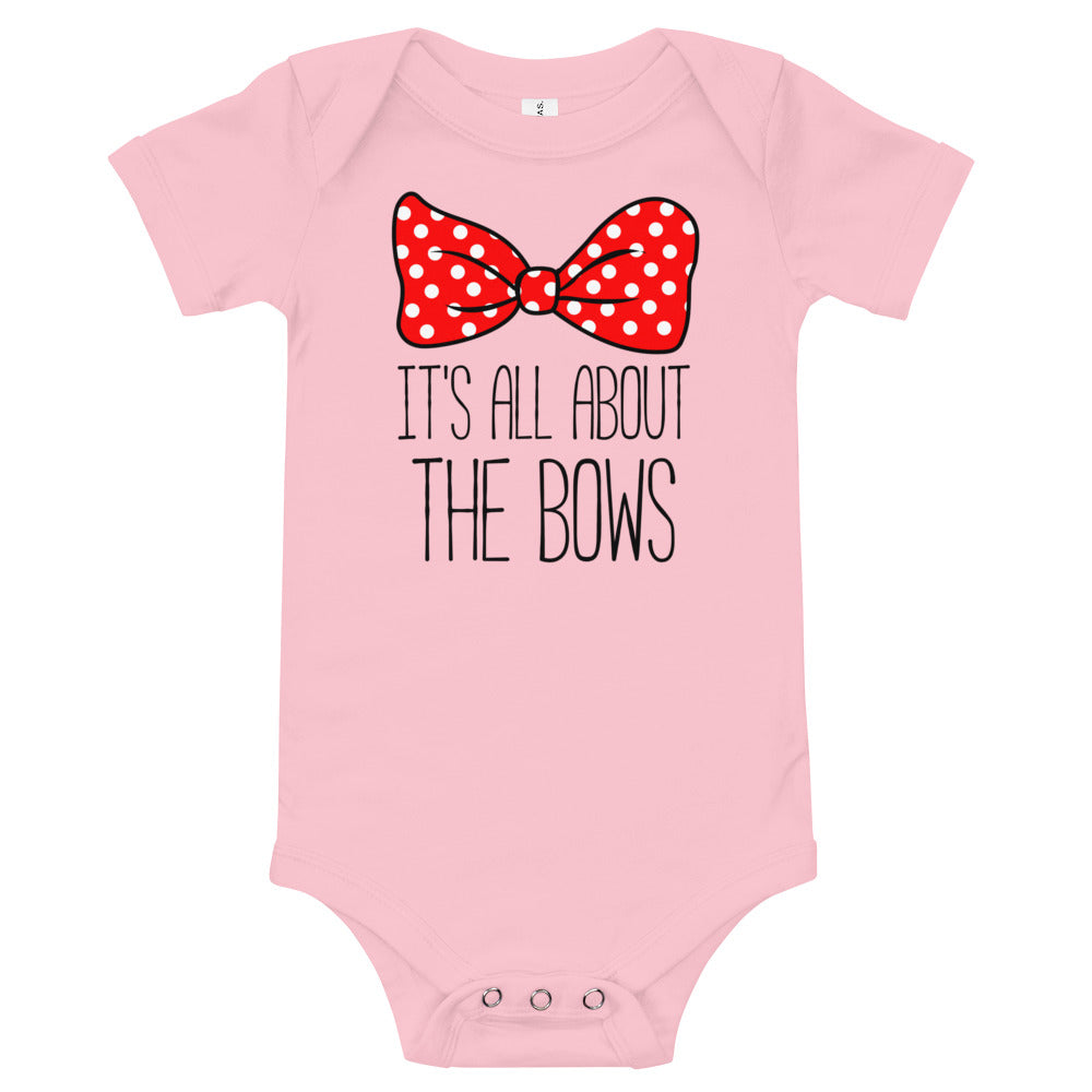All About The Bows - Baby Bodysuit - Ambrie
