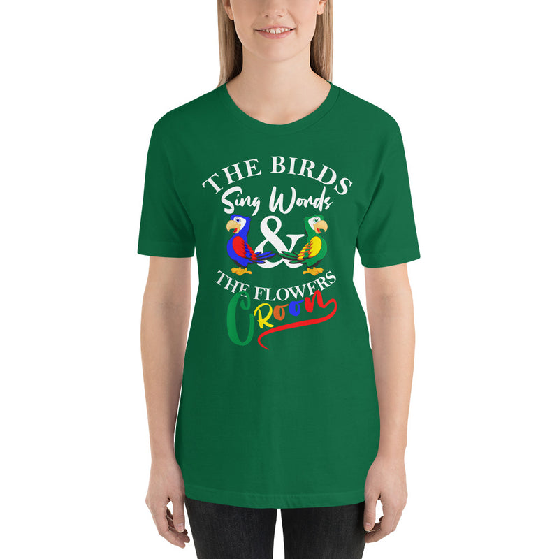 The Birds Sing Words - Women's Short Sleeve Shirt - Ambrie