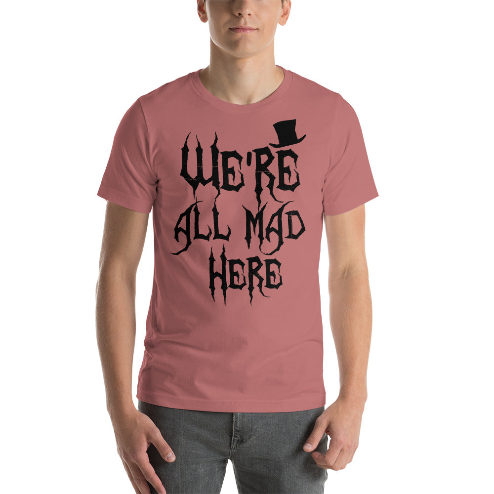 We're All Mad Here - Men's Short Sleeve Shirt - Ambrie