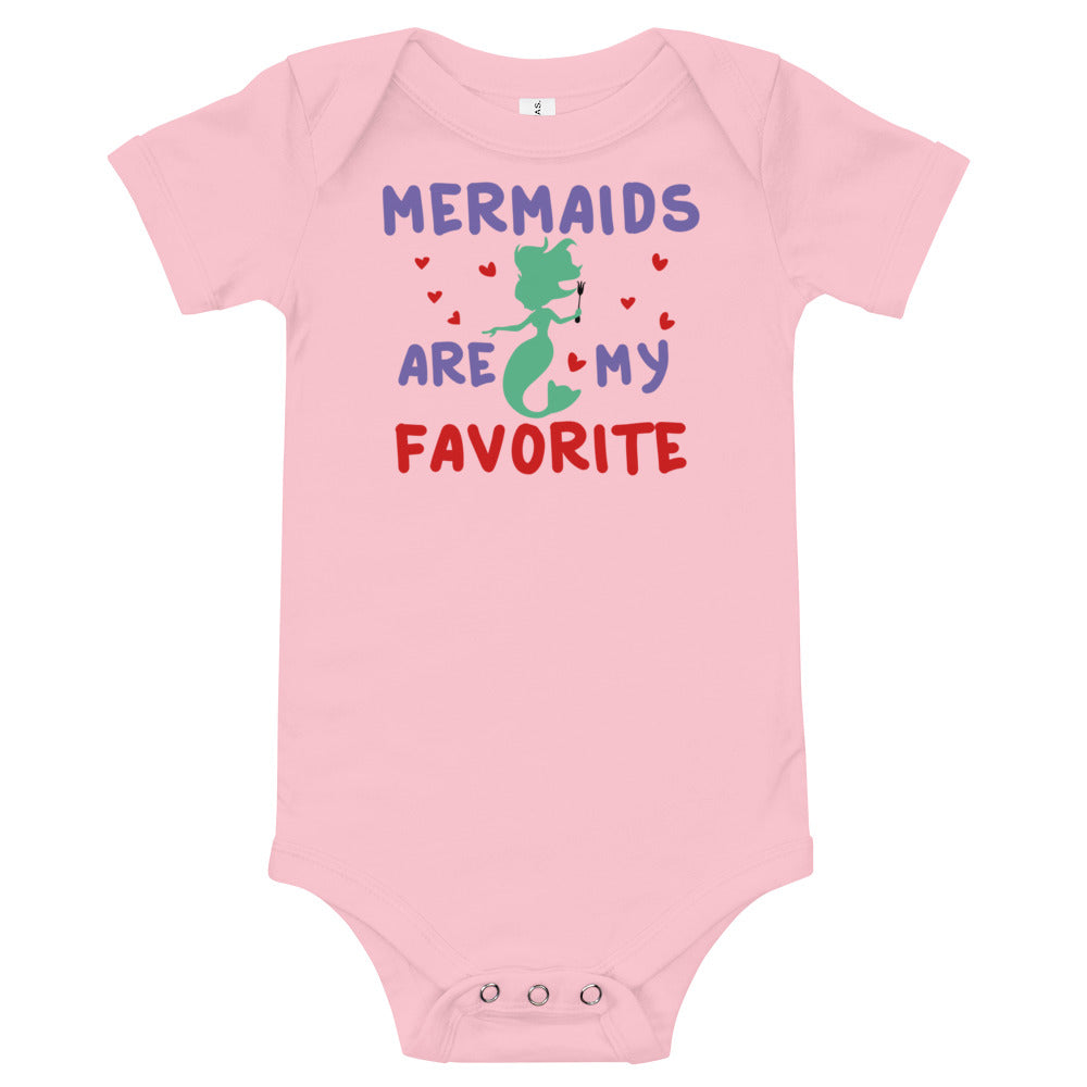 Mermaids Are My Favorite - Baby Bodysuit - Ambrie