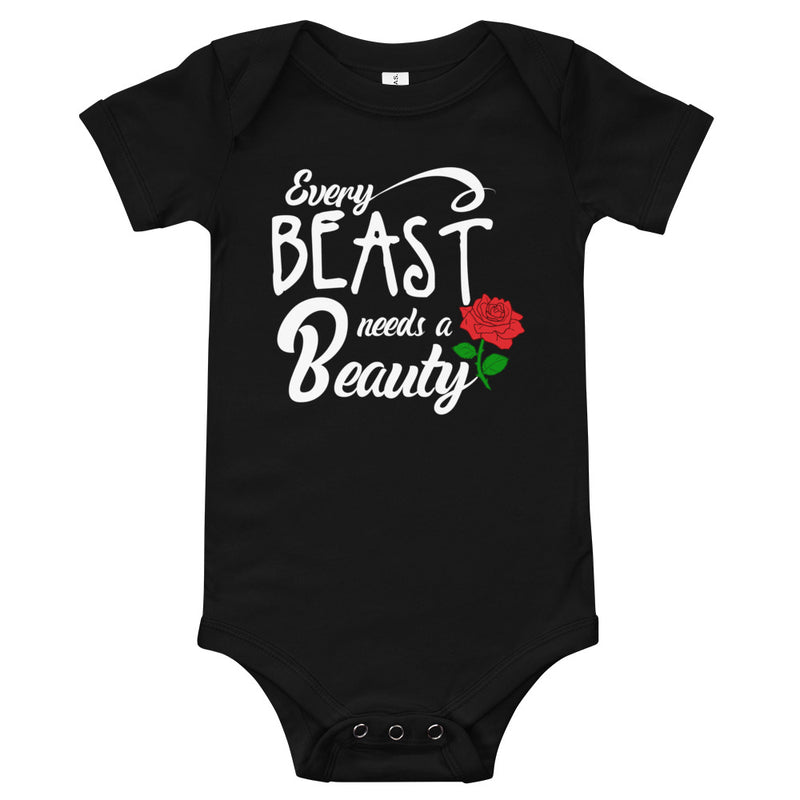 Every Beast Needs A Beauty - Baby Bodysuit - Ambrie