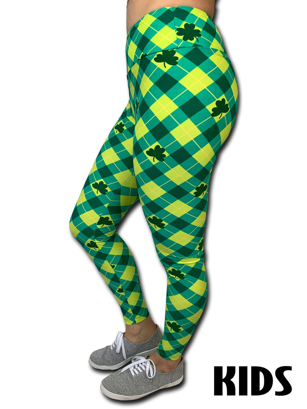St. Patrick's Day Plaid Leggings - Kids - Ambrie