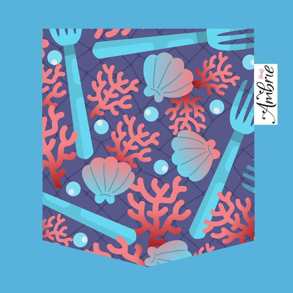 Under The Sea Pocket Tee - Ambrie