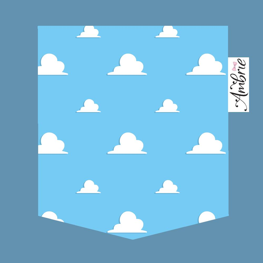 Clouds Unisex Pocket Tee