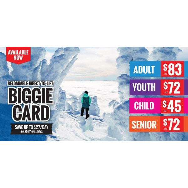 Biggie Card Adult 19+
