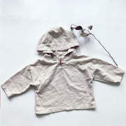 By the Trees Linen/Cotton Pullover in Sizes 2-3 to 10-12