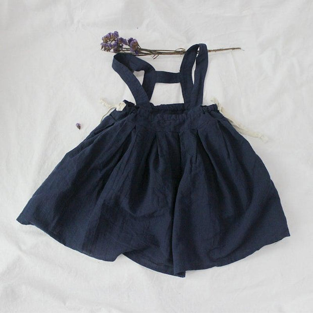Here I Wait Pinafore Dress- Hemp/Cotton