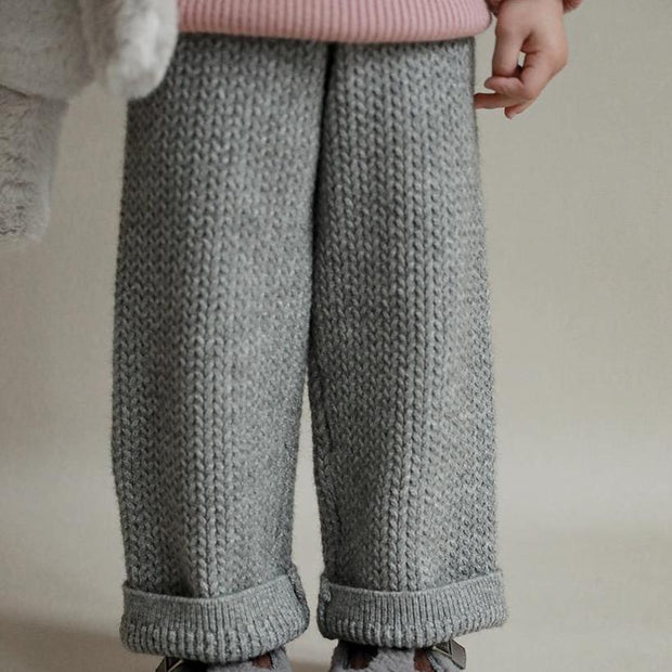 Marle Grey Chunky Knit Pants
