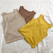 Raw Edge Cotton Singlets