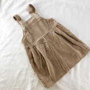 Classic Chunky Corduroy Overall Dress