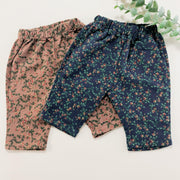 Vintage Floral Winter Pants