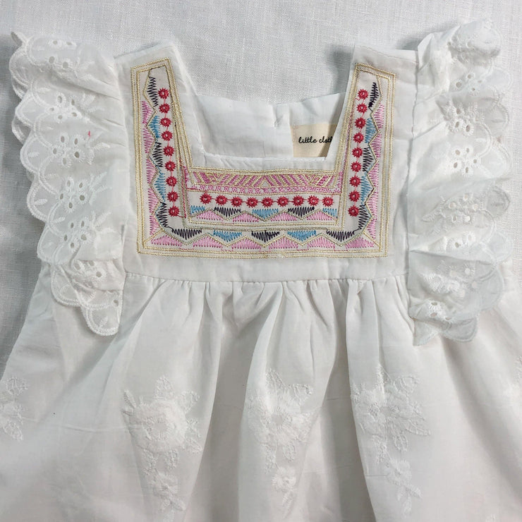 Gracie Lace and Embroidered Dress