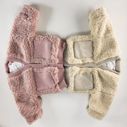 Rory Teddy Bear Jacket in Pink