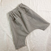 Lightweight Summer Stripe Harem 3/4 Length Shorts - 100% Cotton