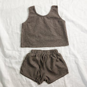 Pinstripe Summer Set - Linen/Cotton