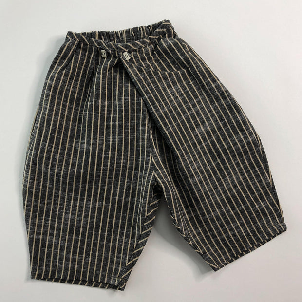 Benjamin Pinstripe 3/4 Length Shorts - Linen/Cotton