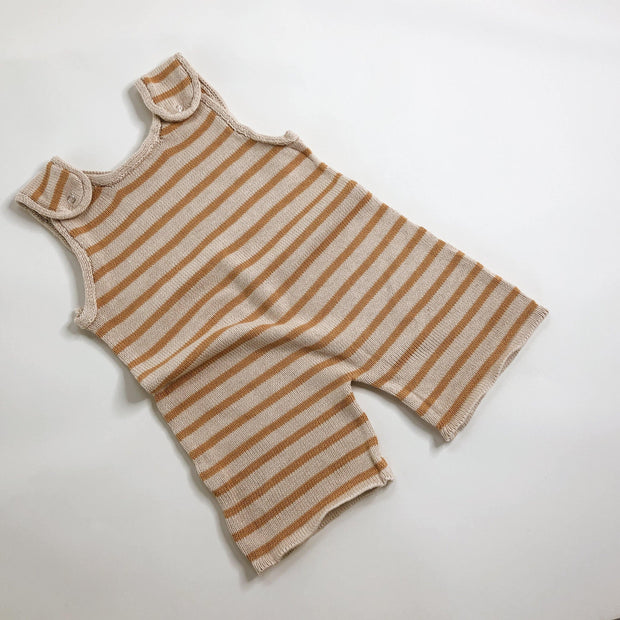 Mustard Stripe Knit Jumpsuit