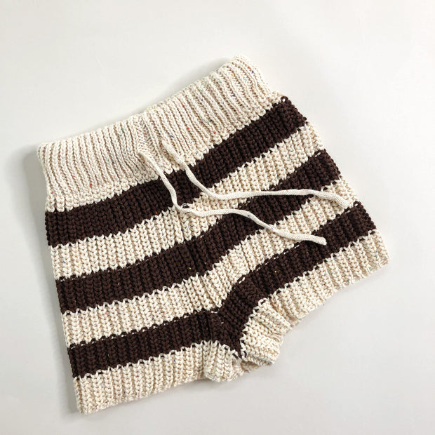 Speckle Stripe Knit Shorts
