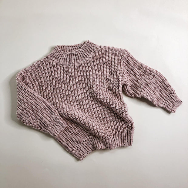 Dusty Pink Speckle Knit Jumper