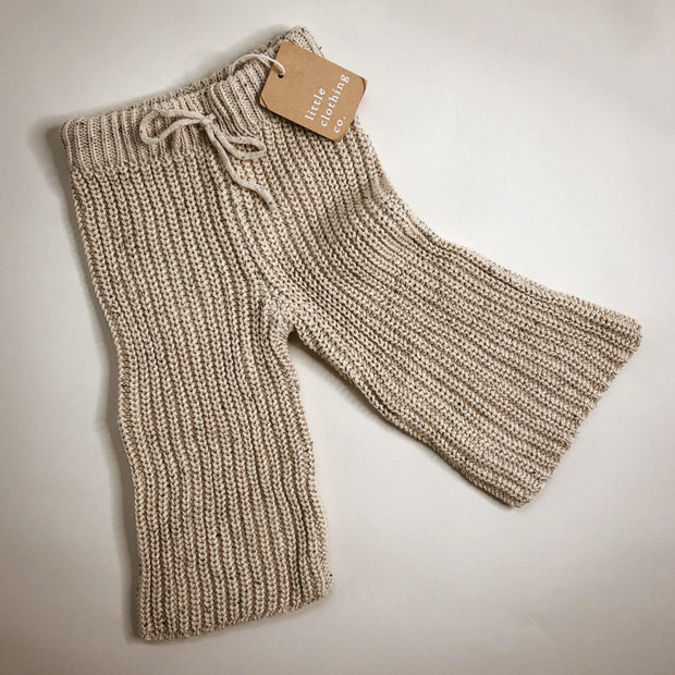 Oatmeal Speckle Knit Pants