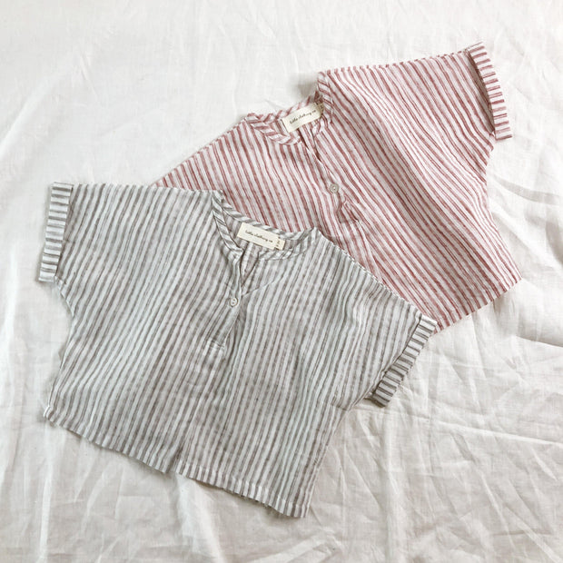 Lightweight Summer Stripe Top - 100% Cotton